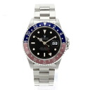 ROLEX16700 Oyster Perpetual date GMT master 1 OH already watch SS mens fs3gm