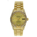 ROLEX Datejust Ref.68158G champagne 10 P diamond a bezel diamond already OH Watch K18YG boys fs3gm