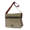 GUCCI tiny GG pattern shoulder bag PVCx leather unisex fs3gm