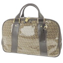 FENDI zucchino Boston bag vinyl / leather unisex