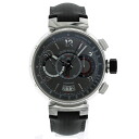 LOUIS VUITTON Tambour chronograph voyage Q102N limited edition watch distances leather mens