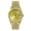 ROLEX D date 18,348A 10PD bezel D watch K18YG/SS men