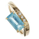 SELECT JEWELRY apatite / diamond ring K18 pink gold Lady's fs3gm