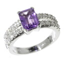 SELECT JEWELRY amethyst / diamond ring K18 white gold Lady's fs3gm