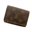 LOUIS VUITTON business card holder cult de visite M62920 business card holder gusset and card put the Monogram Canvas unisex