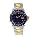 ROLEX Oyster Perpetual Submariner date 16613 watch SS/18 YG men's fs3gm