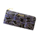 Entering MIUMIU crash pattern L character fastener wallet long wallet (there is a coin purse) python leather unisex fs3gm