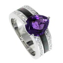 TASAKI amethyst / shell ring K18 white gold Lady's fs3gm
