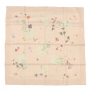 HERMES floral and letter motif Calle 90 scarf Womens