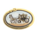 HERMES carriage motif broach Lady's fs3gm