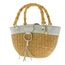 SAVOY basket handbag straw X 合皮 Lady's fs3gm