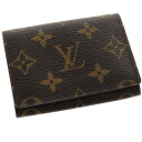 LOUIS VUITTON business card holder-cult de visite M62920 card put the Monogram Canvas unisex