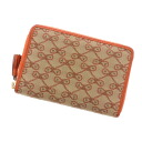Anya Hindmarch round fastener folio wallet (there is a coin purse) canvas x leather Lady's fs04gm