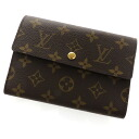 M61202 folio wallet (there is a coin purse) monogram canvas unisex fs3gm with LOUIS VUITTON ポルトトレゾールエテュイパピエ proof case
