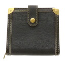 LOUIS VUITTON share line compact zip M91828 two fold wallet ( purses and ) leather unisex upup7