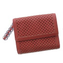 DIESEL punching design folio wallet (there is a coin purse) leather Lady's fs3gm