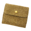 BORBONESE quail pattern folio wallet (there is a coin purse) leather x suede Lady's