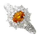 SELECT JEWELRY スペサルティンガーネット / diamond ring platinum PT900 Lady's fs3gm