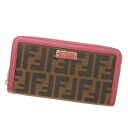 FENDI caked length wallet ( purses and ) canvas x Leather Womens fs3gm