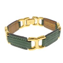 HERMES embossed leather ladies bracelet