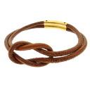 HERMES turn bracelet Leather Womens