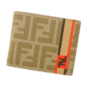 FENDI caked pattern 2 fold wallet ( purses and ) PVC x Leather Womens fs3gm