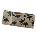 Entering MIUMIU crash pattern L character fastener long wallet (there is a coin purse) python leather Lady's fs3gm