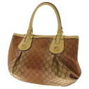 GUCCI GG pattern motif studded shoulder bag GG canvas x Leather Womens fs3gm