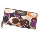 COACH signature long wallet (there is a coin purse) satin Lady's fs3gm