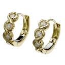 SELECT JEWELRY diamond pierced earrings K18 gold Lady's fs3gm