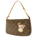 LOUIS VUITTON ポシェットアクセソワール M51980 Panda line accessories pouch Monogram Canvas ladies fs3gm