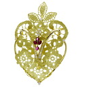 JUNE ruby / diamond broach K18 yellow gold Lady's fs3gm