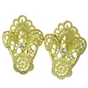 JUNE diamond earrings K18 yellow gold Lady's fs3gm
