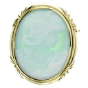 SELECT JEWELRY cameo brooch K18 18kt yellow gold ladies