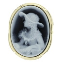 SELECT JEWELRY cameo Gerhart Schmidt broach K18 yellow gold Lady's fs3gm