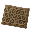 FENDI zucchino 2 fold wallet ( purses and ) canvas x leather unisex fs3gm