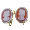 SELECT JEWELRY cameo necklace K18 gold Lady's fs3gm