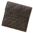 CHRISTIAN DIOR lady dior folio wallet (there is a coin purse) lambskin Lady's