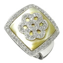 SELECT JEWELRY shell / diamond ring, ring K18 white gold Lady's fs3gm