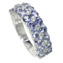 SELECT JEWELRY sapphire / diamond ring, ring K18 white gold Lady's fs3gm
