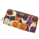 COACH signature logo head wallet (there is a coin purse) canvas Lady's fs3gm belonging to