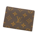 LOUIS VUITTON Porte 2 カルトヴェルティカル M60533 card case Monogram Canvas unisex fs3gm