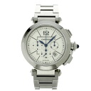 CARTIER Pasha 42 mm Chrono W31085M7 watch stainless steel mens fs3gm