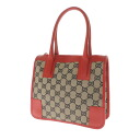 GUCCI GG pattern トリミングスクエア bags handbag GG canvas x Leather Womens fs3gm