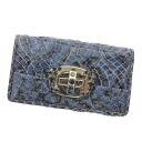 MIUMIU bijoux stitch key case Python Leather Womens