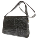 Gianni Versace logo embroidered shoulder bag leather unisex fs3gm