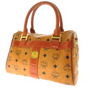 Handbag leather Lady's fs3gm with mcm logo plate