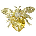 SELECT JEWELRY topaz / diamond broach K18 gold Lady's upup7