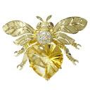 SELECT JEWELRY Topaz / diamond brooch K18 gold ladies fs04gm