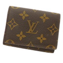 LOUIS VUITTON business card holder cult de visite M62920 card case Monogram Canvas unisex